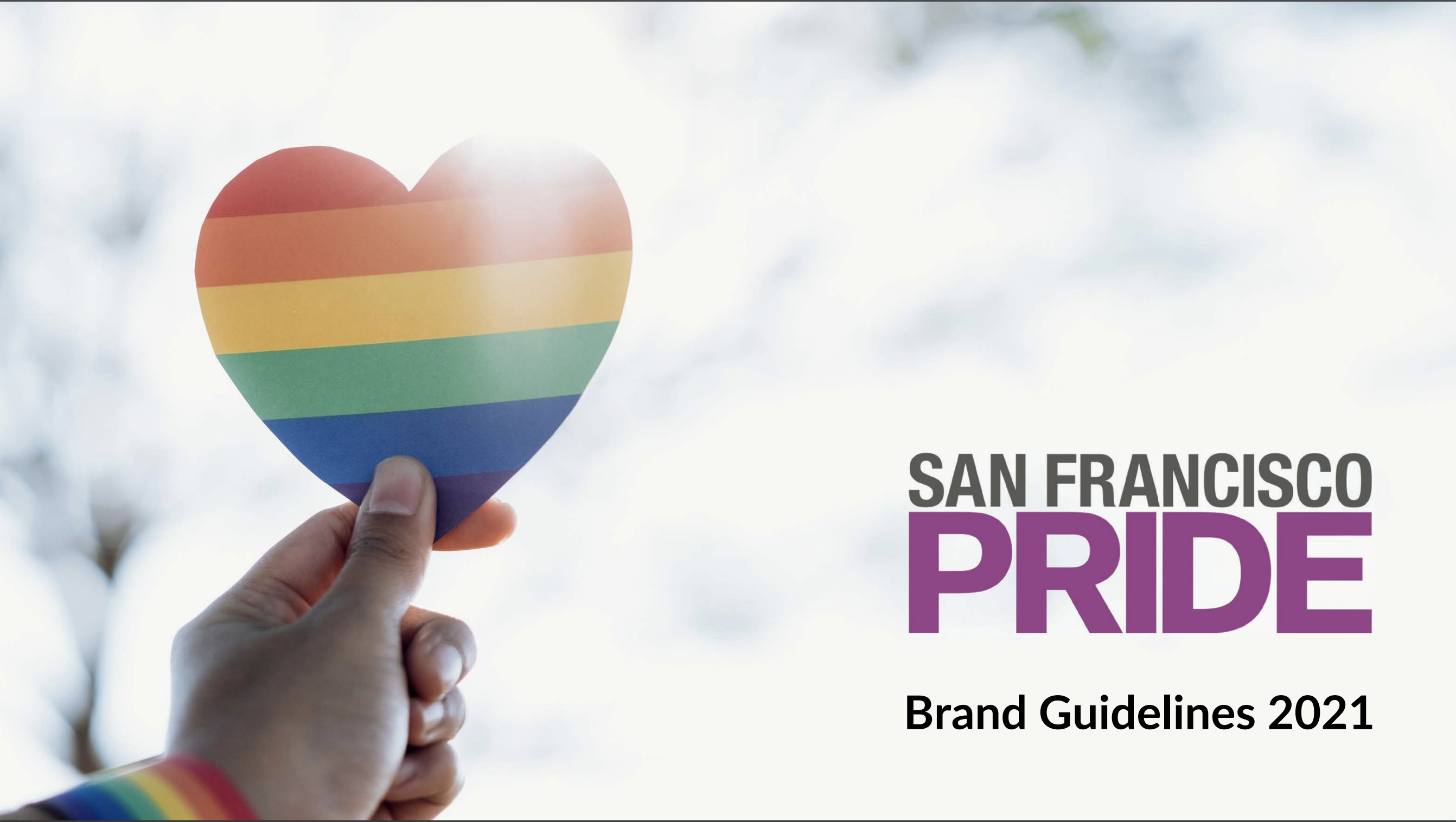 San Francisco LGBT Pride Branding Guidelines for 2021